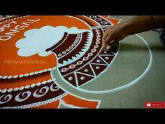 Rangoli Side Designs, Rangoli Designs Latest, Simple Rangoli Designs Images, Rangoli Borders, Free Hand Rangoli Design, Small Rangoli Design, Rangoli Designs Diwali, Rangoli Designs With Dots, Kolam Rangoli