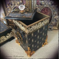 """Купить Короб-шкатулка """"La magie noire"""". - черный, короб для хранения, короб…"""
