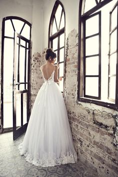 beautiful back. #wedding #pretty wedding dress #dress #beautiful