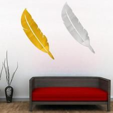 Modern Feather Wall Mirror Decal Sticker Quote Room Home Decal Mural Art Decor