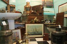 Piezas de barco. Coleccionismo naval. Objeros de decoración estilo marinero. http://lahabanadecoracion.com/