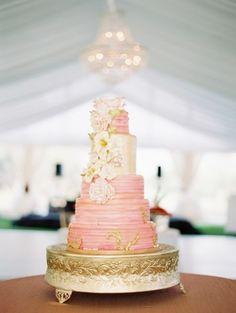 Pink cake: http://www.stylemepretty.com/2015/04/16/bright-tropical-beachfront-wedding/   Photography: Paula Player - http://paulaplayer.com/