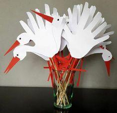Christmas Crafts For Kids To Make, Spring Crafts For Kids, Summer Crafts, Bird Crafts, Diy And Crafts, Paper Crafts, Kids Art Class, Art For Kids, Anchor Crafts