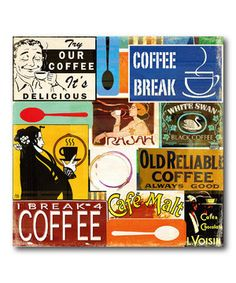 Another great find on #zulily! 'Coffee' Wrapped Canvas by COURTSIDE MARKET #zulilyfinds
