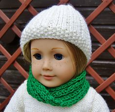 Ravelry:  American Girl Doll Free Cowl by Jacqueline Gibb (Free Pattern)