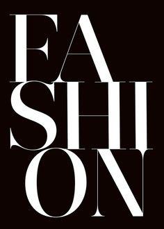 Texttavla med fashion, här utan tavelram.