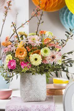 Een bloemenfeestje! #HBB #colouredbygerbera #gerbera #boeket