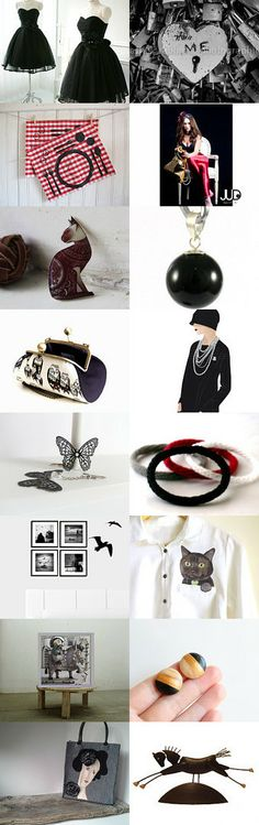 Black dress story  by Elinor Levin on Etsy--Pinned with TreasuryPin.com