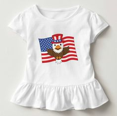 Proud little eaglet! http://ift.tt/2pDhYh2 #USA #kidpatriot #Americanbaldeagle #toddlertee #girlpride #personalizedgift