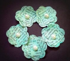 vintage tiffany blue wedding    tiffany blue turquoise vintage paper wedding flowers. These are cute ...