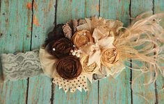 Creme de la creme boutique headband M2M by McKenzieGraceDesigns