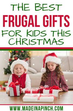 Trying to stick to a budget this Christmas but still want to get your kids gifts they love? Check out this list of the best frugal Christmas gifts for kids! Inexpensive gifts that will bring plenty of Christmas joy! Frugal Christmas, Christmas Gifts For Kids, Kids Gifts, All Things Christmas, Christmas Crafts, Family Christmas, Christmas Ideas, Niece Gifts, Toddler Christmas
