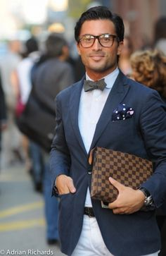 preppy: work suit + small simple muted tie