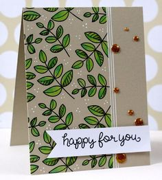 Lawn Fawn - Blissful Botanicals, Let's Roll _ gorgeous card by Maya at Little Outbursts of Creativity Cool Cards, Diy Cards, Quick Cards, Scrapbook Paper Crafts, Scrapbook Cards, Paper Crafting, Lawn Fawn Stamps, Beautiful Handmade Cards, Card Making Inspiration