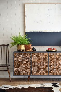 Bone Inlay Budget DIY Furniture Projects   Bone inlay, intarsia and marquetry furniture is popping up more and more. The downside? The hefty price tag, unfortunately. But here's the good news. You can easily get this look at home, for a fraction of the cost.