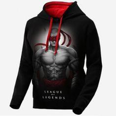 LOL Lee Sin capuz preto para os homens League of Legends camisolas de jogo