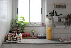 Quero plantinhas na minha cozinha...