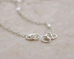 Little hearts necklace - small sterling silver open hearts necklace - delicate jewelry - edor. $23.00, via Etsy.