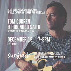 tonight  tom curren aka @curfuffle and ukulele master hironobu saito join us for an intimate musical showcase mezcal specials and tastings with @mezcalelsilencio for more info on his full length concert on 12/21 visit @bluenotehawaii