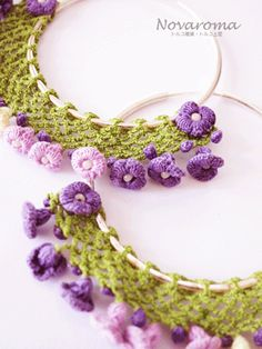 oya crochet earrings  use this idea to crochet trim to the outside of embroidery frames.