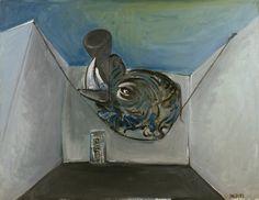 Jacques Grinberg : Le Rhinocéros, vers 1968, huile sur toile, 115 cm x 147…