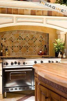 Tile Backsplash Over Stove photo