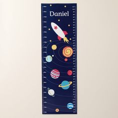 Personalised Galaxy Height Chart - Personalised Gifts - Christmas