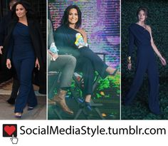 Buy Demi Lovato's Good Morning America One Shoulder Navy Jumpsuit, here!