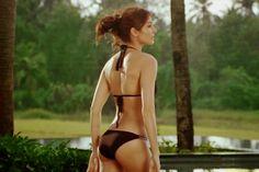 Anushka Sharma Black Bikini Photo