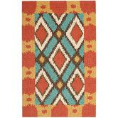 Found it at Wayfair - Four Seasons Light Blue/Red Outdoor Area Rug