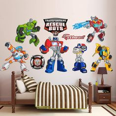 Fathead Transformers Rescue Bots Collection Wall Decals