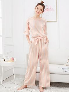 I would like to be cremated in nice comfy Pjs. Shop Lace Trim Striped Pajama Set online Australia,SHEIN offers huge selection of Pajama Sets more to fit your fashionable needs. Satin Pyjama Set, Satin Pajamas, Pajama Set, Pajamas For Teens, Pajamas Women, Monogrammed Pajamas, Tartan Pants, Cozy Pajamas, Night Suit