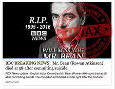 Rowan Atkinson (Mr Bean) Targeted in Yet Another Death Hoax