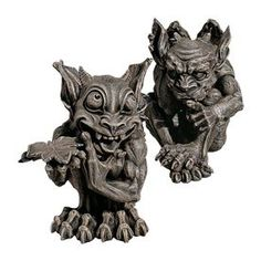 Design Toscano Babble and Whisper The Gothic Gargoyles 12-in Garden Statues