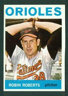 1964 Topps Robin Roberts Orioles Set Break Card #285 - NRMINT