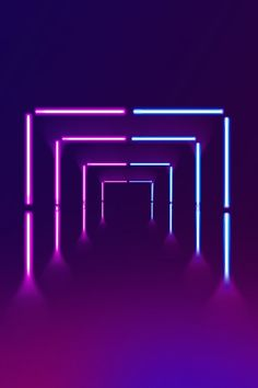 Simple Illuminated Lines Neon Stereoscopic Wallpaper Images Hd, Neon Wallpaper, Neon Backgrounds, Wallpaper Backgrounds, Background Images Hd, Neon Party, Purple Aesthetic, Light Installation, Neon Lighting
