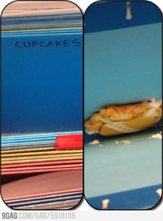 """""""When my coworker is away, I like to file snacks for him.""""  Hahaha this is an awesome prank"""