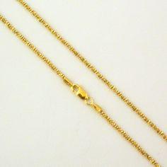 Cadena de plata de primera ley de 80 cm chapada en oro amarillo. REF.:2302630193O. PRECIO:46,80 €