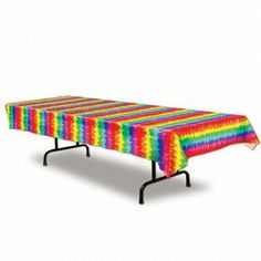 Tie-Dyed Tablecover - 60's Hippie Party Decorations