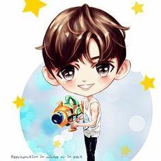 แฟนอารต์สดๆร้อนๆออกจากเตาของคาเฟ่เจ้าเก่า โย่วๆ (Fan Art) Actor Ji Chang Wook weibo today.  Credit : Kafee的宝贝