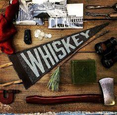 Letterpress felt pennant whiskey gift whiskey by LumberjackLeather