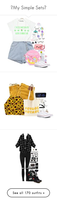 """❝My Simple Sets❞"" by xpenguinmeldoiesx ❤ liked on Polyvore featuring Kismet, Monsoon, Olympia Le-Tan, Forever 21, Anya Hindmarch, Rock 'N Rose, Converse, tarte, Jazzelli Designs and Nobody Denim"