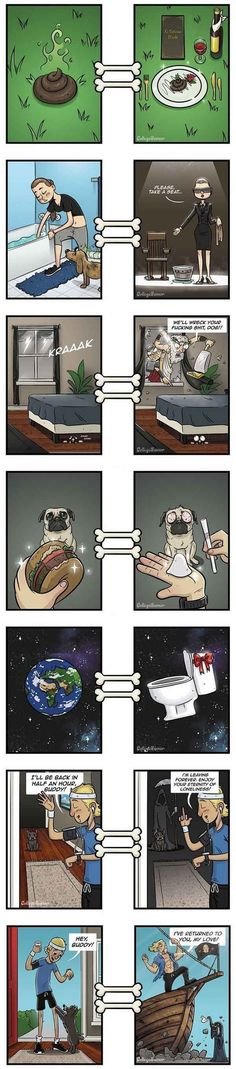 The point of view of the dog of the master - http://funnydrip.com/the-point-of-view-of-the-dog-of-the-master/