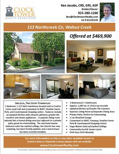 flyers for selling houses | Marketing/Advertising | Walnut Creek Real Estate, Homes for Sale ...