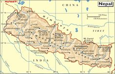 nepal Map of Nepal and Nepal Physical Map current events and