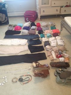 Packing for week-long Caribbean vacation. From excursions to pool lounging; from a semi formal dinner to sleeping, it's all here, plus accessories and shoes. All fits in a very small suitcase/carry-on.