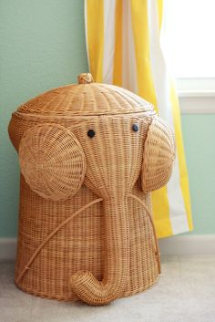Elephant clothes hamper #playeveryday i mean who wouldn't want one of these @Klaire Masters