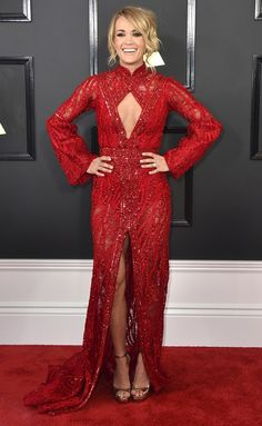 Grammys 2017 Best Dresses: Every Gorgeous Gown on the Red Carpet - Carrie Underwood in Elie Madi