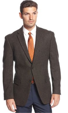$139, Tommy Hilfiger Wool Blend Herringbone Classic Fit Elbow Patch Sport Coat. Sold by Macy's. Click for more info: https://lookastic.com/men/shop_items/163065/redirect