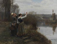 Hailing the Ferry by Daniel Ridgway Knight (1888) Pennsylvania Academy of the Fine Arts, Philadelphia